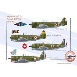 Republic P47 D, Armée de l'Air, 1944-1945