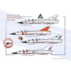 Mirage III biplace, Armée de l'Air, 1961-1994