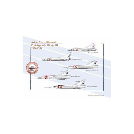 Avions Marcel Dassault. Prototypes du Mirage III, 1954-1959