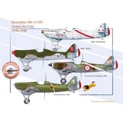 Dewoitine 501 et 510 - Armée de l'Air, 1938-1940