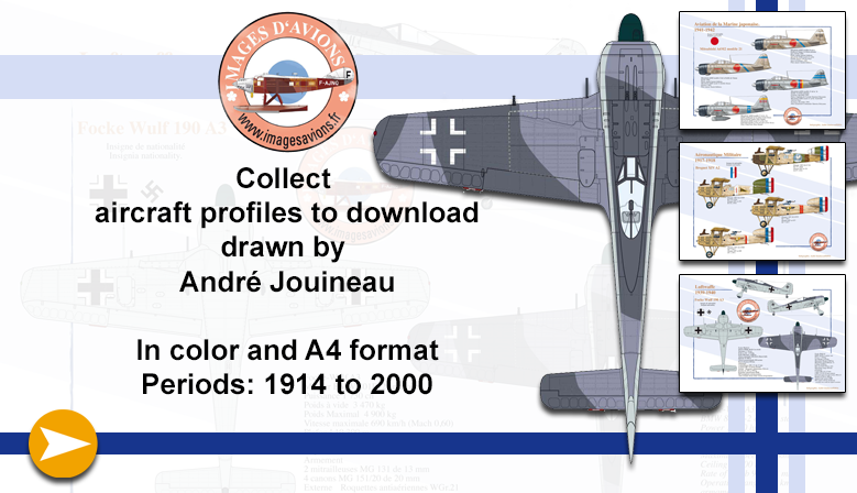 Aircraft profiles to download drawn by André Jouineau