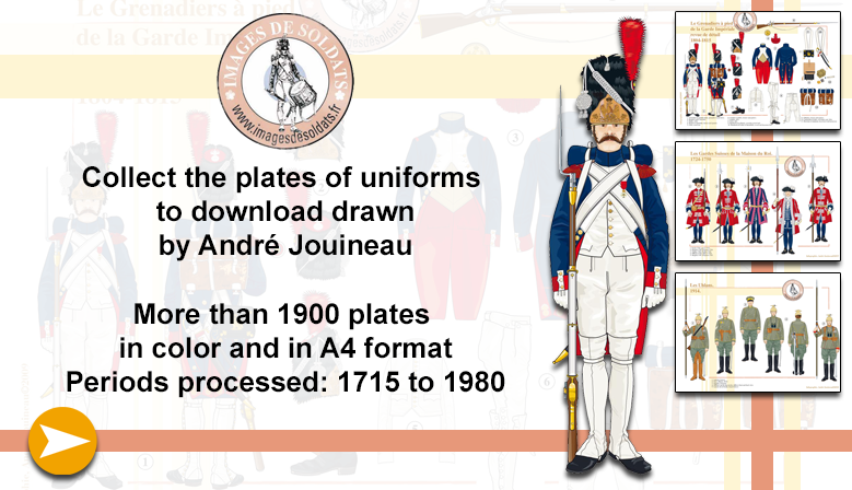 The plates of uniforms to download from André Jouineau
